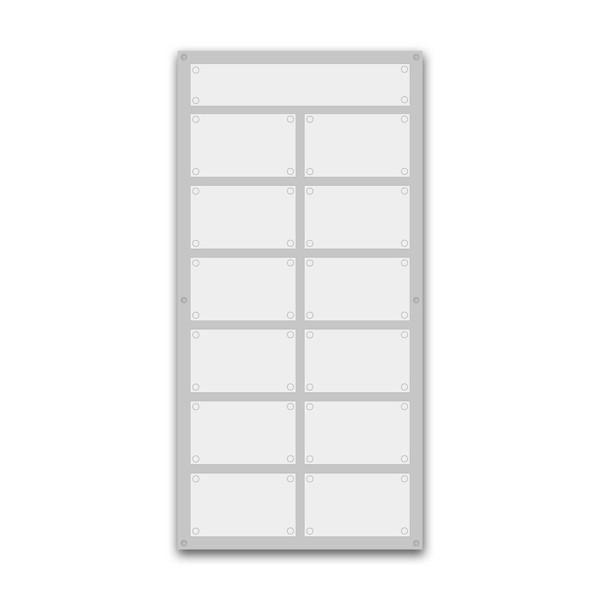 Support pour 6 plaques de 30x20 cm et entête