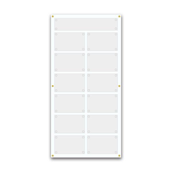 Support pour 8 plaques de 30x20 cm et entête