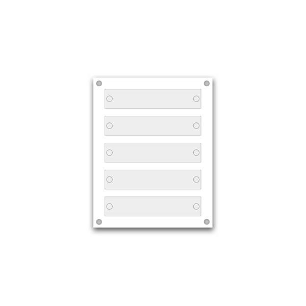 Support pour 9 plaques de 30x20 cm