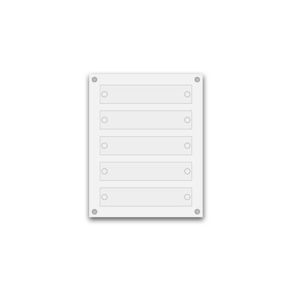 Support pour 8 plaques de 25x15 cm