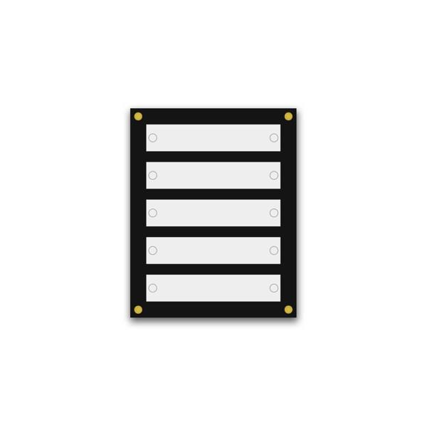 Support pour 8 plaques de 25x15 cm et entête