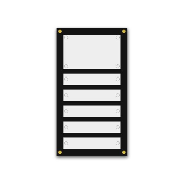 Support pour 10 plaques de 25x15 cm et entête