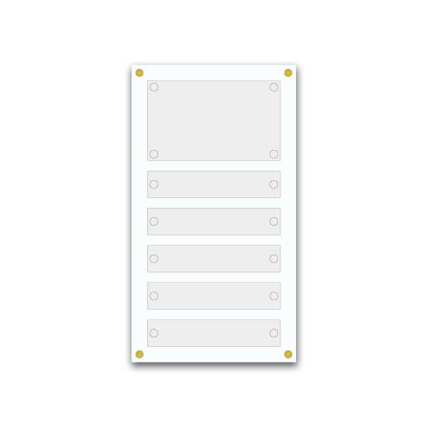 Support pour 5 plaques de 25x5 cm