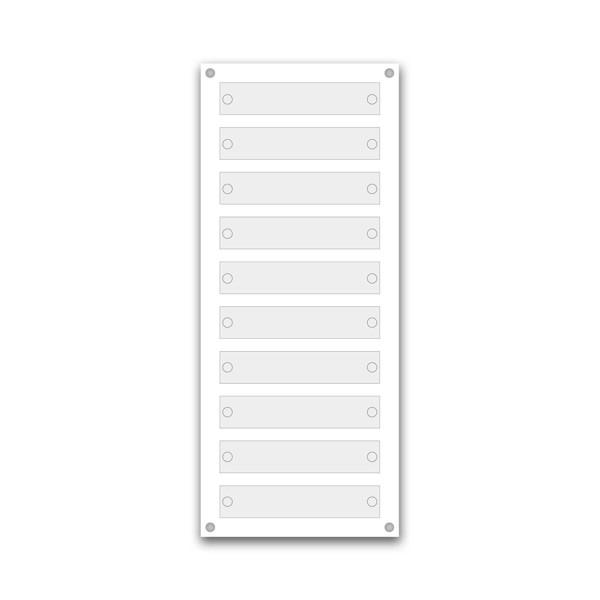 Support pour 5 plaques de 25x5 cm et entête