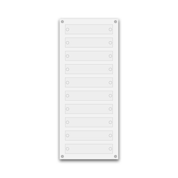 Support pour 10 plaques de 25x5 cm