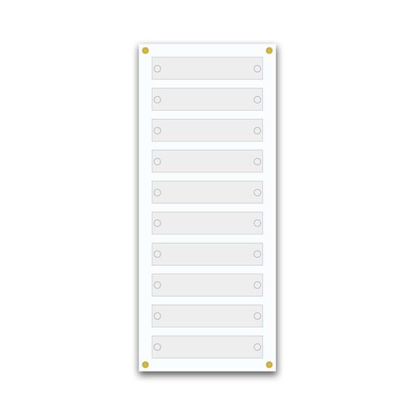 Support pour 5 plaques de 30x5 cm