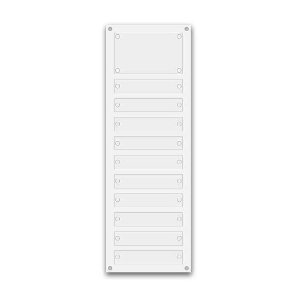 Support pour 10 plaques de 30x5 cm