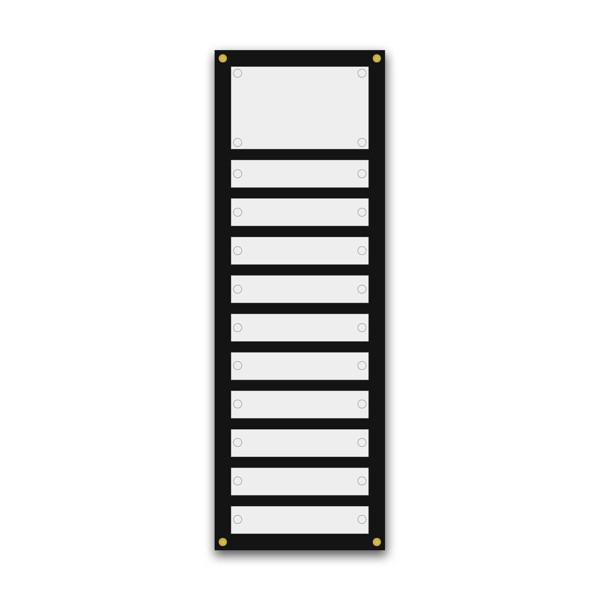 Support pour 5 plaques de 30x5 cm et entête