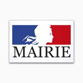 Plaque mairie en plexiglas imprimé en couleur - Plaque mairie avec Marianne