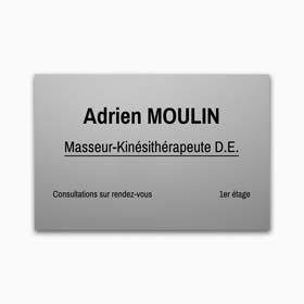 Plaque cabinet medical aluminium anodisé