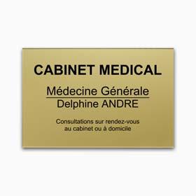 Plaque cabinet medical en plexiglas gravé