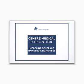 Plaque cabinet medical plexiglas, impression quadri sur plaque