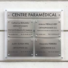 Tableau multi-plaques cabinet medical