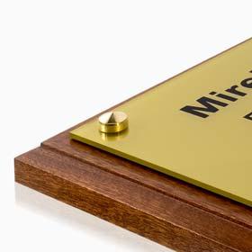 Support plaque professionnelle en bois