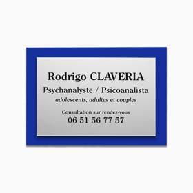 Support pour plaque professionnelle en plexiglas de couleur