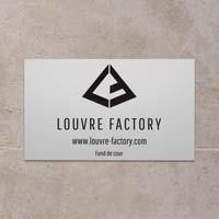 Plaque professionnelle d'entreprise en aluminium anodisé naturel - logo et texte gravés en noir