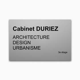 Plaque profession libérale aluminium - Plaque d'architecte en aluminium anodisé naturel