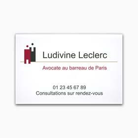 Plaque profession libérale plexiglas quadri - Plaque d'avocat en plexiglas avec logo en couleur