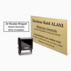 Plaque médicale : plaque professionnelle de medecin et tampon encreur medecin