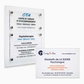 Plaque profession libérale psychologue : plaque professionnelle psychologue, multi-plaques de cabinet de psychologie