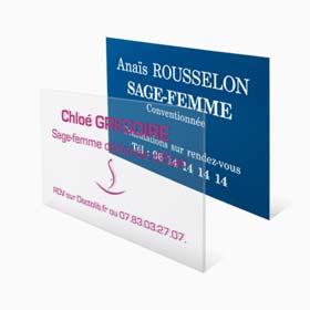 Plaque profession libérale sage-femme : plaque sage-femme en plexiglas transparent et opaque