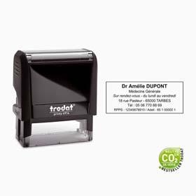 Tampon encreur personnalisé Trodat Printy 4914- Tampon pour 1 à 6 lignes de texte